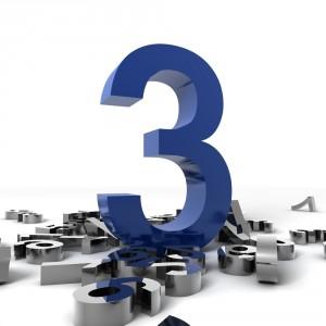 numéro trois symbolisant l'engagement fort de transition DSI